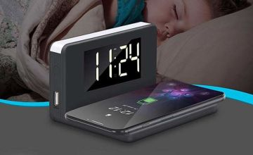 £15.99 instead of £69.99 (from Litnfleek) for a 3-in-1 alarm clock, night light and wireless charger - save 77%