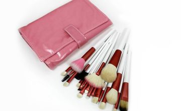 £11.99 instead of £21 (from Forever Cosmetics) for a 20-piece makeup brush set with pink pouch - save 43%