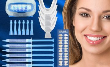 £9.99 instead of £29.99 (from Teeth Whitening LTD) for an Ivory Smiles home teeth whitening kit - with 6x 3ml Gel Syringes  - save 60%