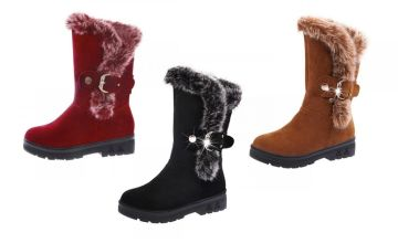 £17.99 instead of £39.99 (from My Blu Fish) for a pair of faux suede buckle boots - save 55%