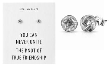 £5.99 instead of £16 (from Philip Jones) for a pair of sterling silver friendship knot earrings - save 63%