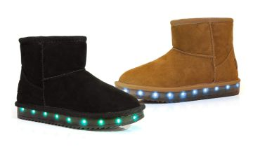 £14 instead of £29.99 (from Flashwear) for a pair of light-up LED ankle boots – choose a child or adult size and save 53%