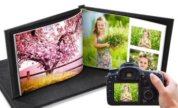 From £1 (from Printerpix) for a leather photobook - choose from two sizes