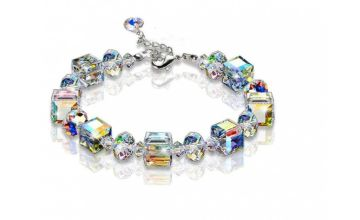 £7.99 instead of £49.99 (from Your Ideal Gift) for a crystal bead cube multi-coloured bracelet - save 84%