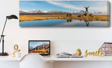 £9.99 instead of £69.99 (from Deco Matters) for a 76 x 25cm personalised panoramic canvas - save up to 86%