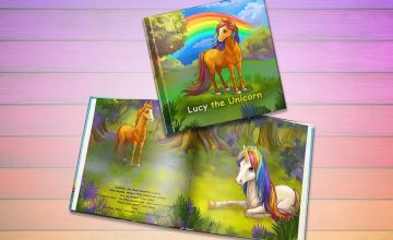 £4.99 instead of £14.59 (from Dinkleboo) for a softback personalised 'The Unicorn' story book or £7.99 for a hardback - save up to 66%