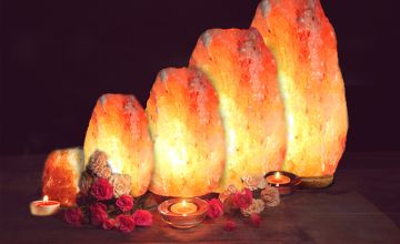 From £6.99 instead of £29.99 (from Black Feather) for a pink crystal salt lamp - choose from eight options - Save 77%
