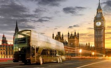 £49 instead of £105 for a six-course gourmet dining experience aboard a double-decker bus from Bustronome - enjoy fine dining while sightseeing London and save 53%