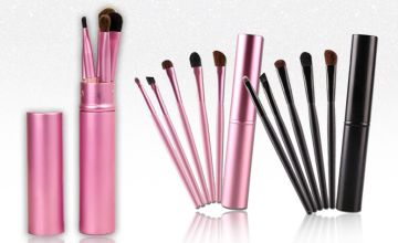 £4.99 instead of £10.99 for a five-piece makeup brush set - choose from two colours from GetGorgeous - save 55%