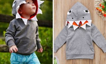 £10 instead of £24.99 (from Electronic Store) for a kid's shark hoodie - save 60%