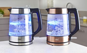 £19.99 instead of £65 (from Home Empire) for a Neo cordless Nordic illuminated LED glass kettle  – save 69%