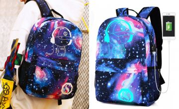 £12.99 instead of £29.99 (from Yello Goods) for a Galaxy Luminous USB Backpack - save 57%