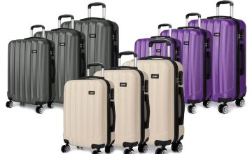 £79.99 (from Lulu Bags) for a three-piece luggage set in beige, grey or purple