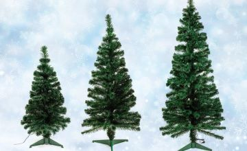 £19.99 instead of £39.99 (from DreamPriceDirect) for a 90cm Christmas tree with fibre optic tips, £39 for a 150cm tree or £54.99 for a 180cm – save up to 43%