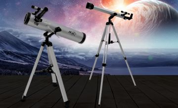 £29.99 instead of £120.64 (from Whoneedsshops) for a performance 700-60 reflector telescope or £39.99 for a 700-76 reflector telescope – save up to 75%