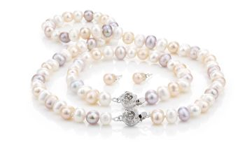 £14.99 instead of £150 (from Pearl Shed) for a freshwater semi baroque pearl set - save 90%