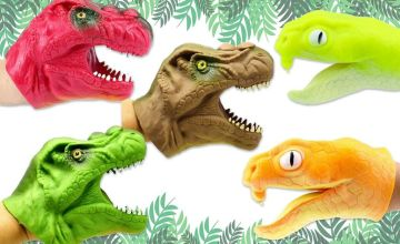 £5.99 (from Yello Goods) for a dinosaur hand puppet toy