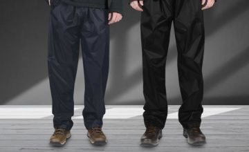 £8.99 (from RVX & Wholesale Clearance) for a pair of men's waterproof trousers