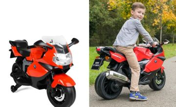 £149 instead of £199.99 (from Wilton Bradley) for a BMW 12v electric ride on bike – save 25%