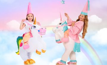 £18.99 instead of £79.99 (from Litnfleek) for an inflatable ride a unicorn costume - save 76%