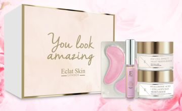£29.99 (from Eclat Skin London) for a four-piece Skin Hydration Glow gift set – treat your skin to luxury