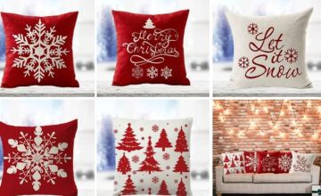 £5 instead of £19.99 for a Christmas cushion cover - choose from five designs from Blufish - save 75%