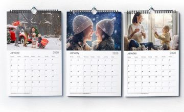 £4.99 instead of £10.99 (from Photo Gift World) for a personalised A4 photo calendar or £6.99 or an A3 calendar - save 54.60%