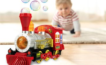 £12 instead of £59.99 (from Litnfleek) for a train bubble machine with music and lights - save 80%