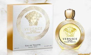 £52.99 instead of £98.50 (from Prestigious Gifts) for a Versace Eros Pour Femme 100ml eau de parfum - save 46%