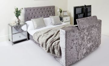 From £329 (from Abreo) for a velvet Chesterfield TV bed - choose from three sizes!