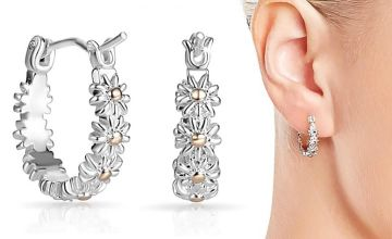 £3.99 instead of £26 (from Phillip Jones Jewellery) for a pair of daisy hoop earrings - save 86%
