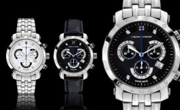 From £169 (from Rotatio) for a Swiss-made Chrono Diamond 'Nestor' watch - save up to 89% + DELIVERY IS INCLUDED!