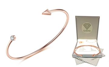 £19.99 instead of £149 (from Taylors Jewellery) for a diamond rose gold arrow bangle - save 87%