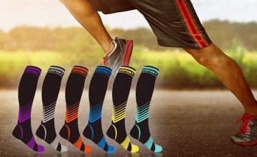 £4.99 (from Groundlevel) for a pair of high compression socks, or £9.99 for two pairs - choose from four size options and six colours and save up to 75%