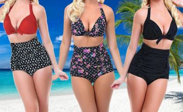 £9.99 instead of £39.99 (from Fifty Shades of Lust) for a high-waisted push up bikini - choose from three colours and sizes and save 75%