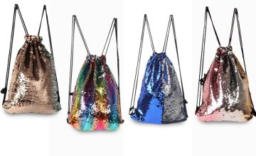 £6.99 instead of £29.99 (from Blu Fish) for a mermaid sequin drawstring bag - choose from seven designs and save 77%