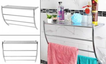 £12.99 instead of £39.99 (from Fusion Online) for a wall-mounted chrome towel rail - save 68%