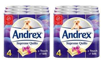 £10.99 instead of £26.99 (from Avant Garde) for a 24 rolls of Andrex supreme quilts toilet paper, £19.99 for 48 rolls or £39.99 for 96 rolls - save up to 59%