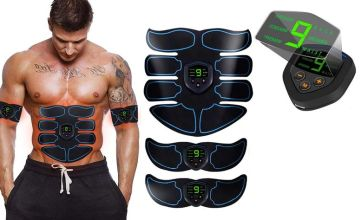 £7.99 instead of £49.99 (from Wishwhooshoffers) for an abs stimulator, or £14.99 for an abs stimulator and matching arm pads - choose from two colours and save up to 84%