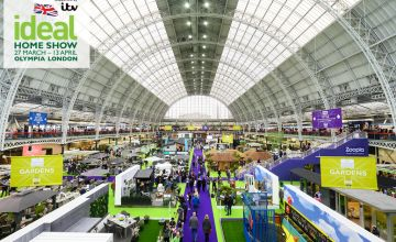 £15 for two weekday tickets to the Ideal Home Show, £17 for two weekend tickets at Olympia London, 27th March-13th April - save up to 56%
