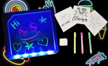 £6.99 instead of £19.99 for a neon drawing board from Direct2Public Ltd - save 65%