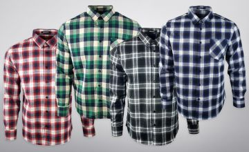 £12 instead of £49.99 (from Blu Apparel) for a men's flannel shirt - save 76%