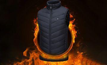 £19.99 (from Domo Secret) for a unisex thermal electric USB heated gilet – choose from black or blue in sizes small-3XL