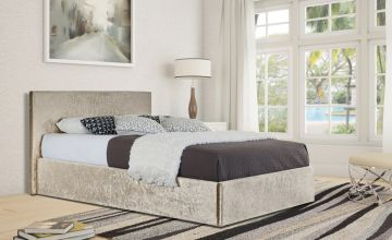 From £68 instead of £370 (from UKFurniture4u) for a crushed velvet Panama bed, or £128 for a bed and mattress - choose from three sizes and save up to 81%