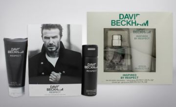 £6 for a David Beckham Respect gift set, £12 for a David Beckham Inspired gift set