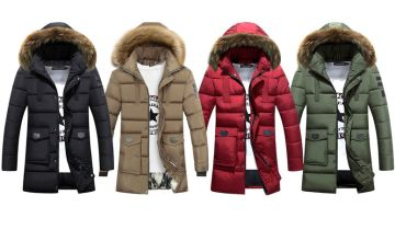£22 instead of £69.99 (from My Blufish) for a men's hooded coat - choose your colour and size and save 68%