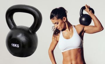 £18 instead of £83.30 (From Who Needs Shops) for a 10kg cast iron kettlebell, £22 for a 12kg kettlebell or £25 for a 16kg kettlebell – save up to 78%