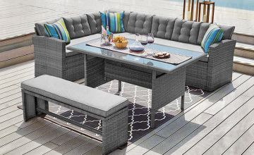£369 instead of £970 (from Dreams Outdoors) for a 10-seater rattan outdoor furniture set, or £409 to include a cover - save up to 60%