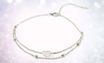 £12.00 instead of £79.99 (from Gemnations) for a sterling silver anklet - save 85%