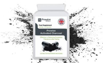 £7.99 instead of £29.99 (from Prowise) for a one-month* supply of activated charcoal capsules – save 73%